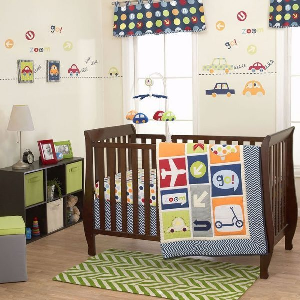 Belle Boys World 10 Piece Baby Bedding Set
