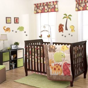 Belle Dino 10 piece baby bedding sets