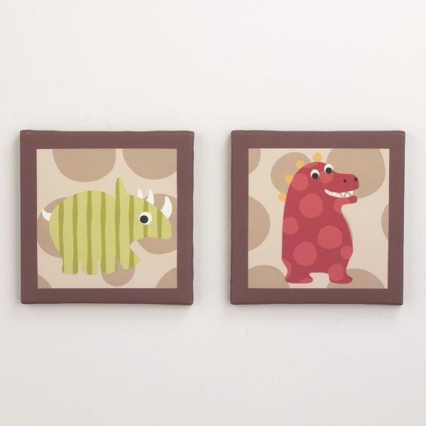 Belle Dino Baby Bedding Wall Canvas