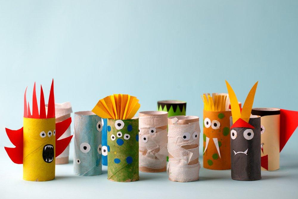 Craft Ideas - Toilet Roll Creatures