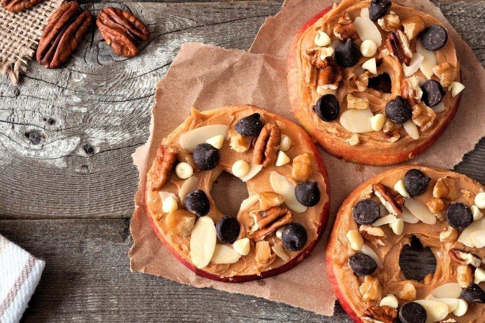 Easy Snacks for Kids - PB&J Apples