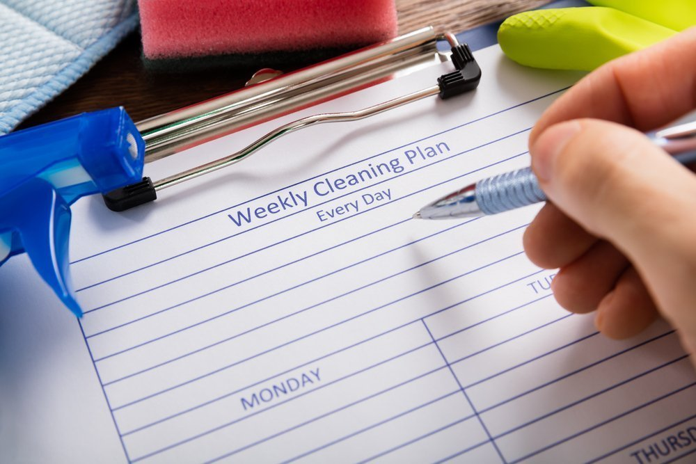 Constantly Cleaning? How To Organize Your Home! Keep A Schedule