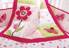 Berry Garden Baby Bedding Set Quilt