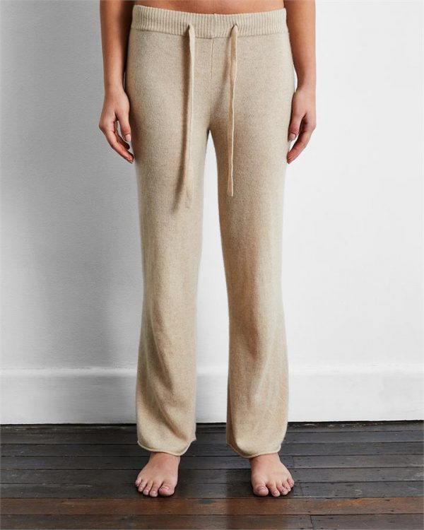 100% Cashmere Pants in Oatmeal - Bed Threads