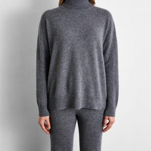 100% Cashmere Sweater in Fog - Bed Threads