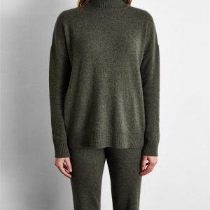100% Cashmere Sweater in Olive - Bed Threads