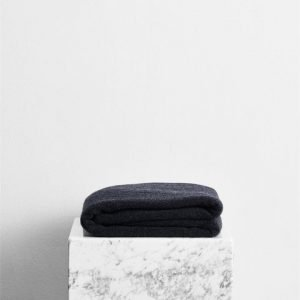 100% Cashmere Throw in Charcoal - Bed Threads