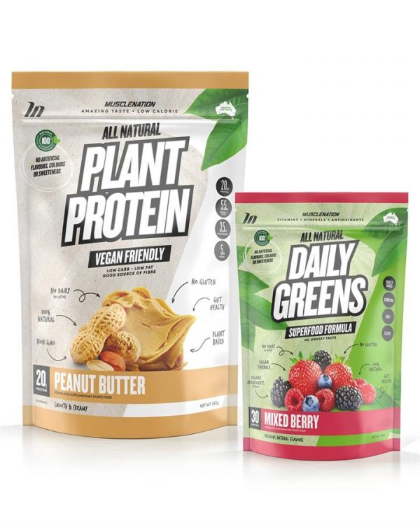 100% Natural Plant Based Protein + Daily Greens STACK - Bundle