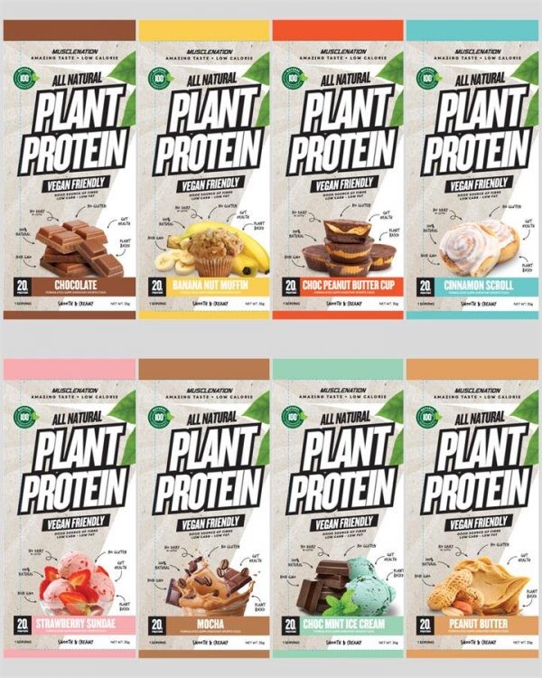 100% Natural Plant Based Protein Sample Pack - 8 SACHETS