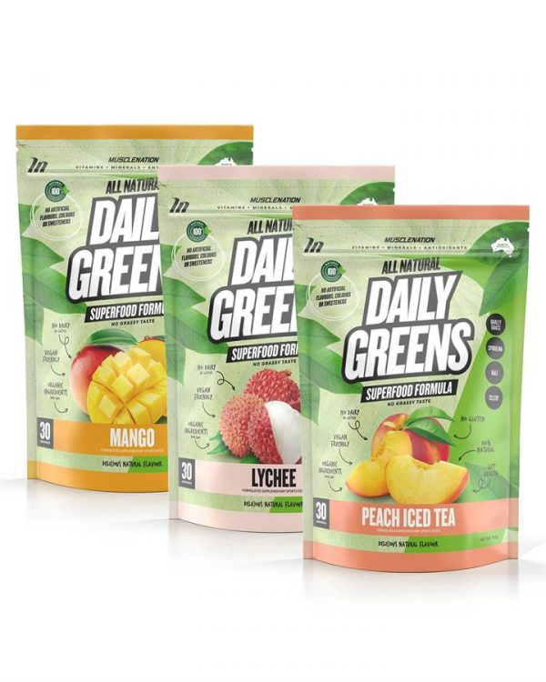 3 PACK - 100% Natural Daily Greens - Select Flavour 3
