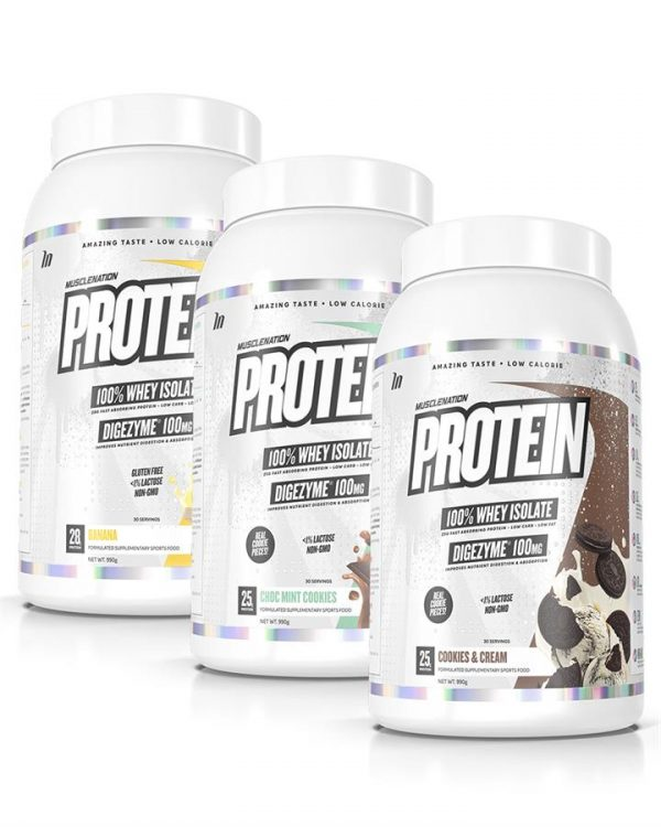 3 PACK - PROTEIN 100% Whey Isolate - Bundle