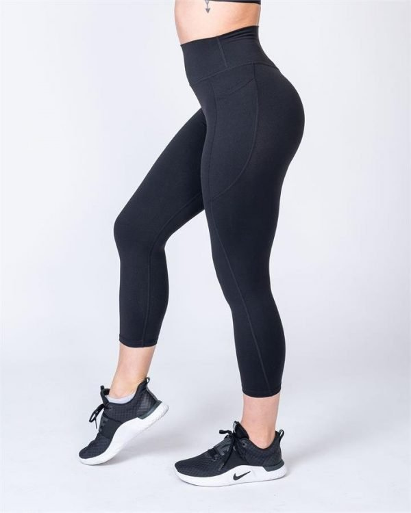7/8 Pocket Leggings - Black - XS