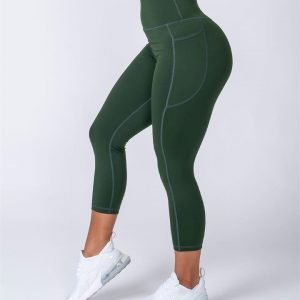 7/8 Pocket Leggings - Moss - S