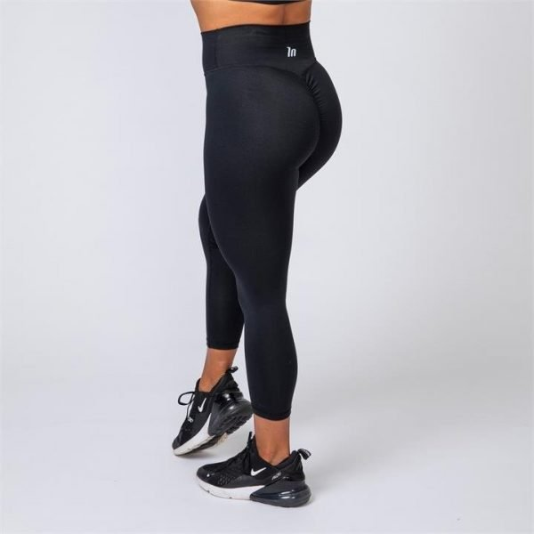 7/8 Scrunch Leggings - Black - XS