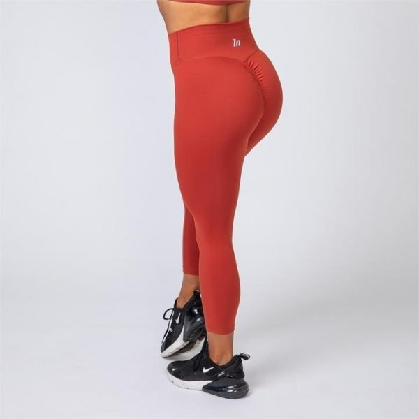 7/8 Scrunch Leggings - Burnt Orange - M
