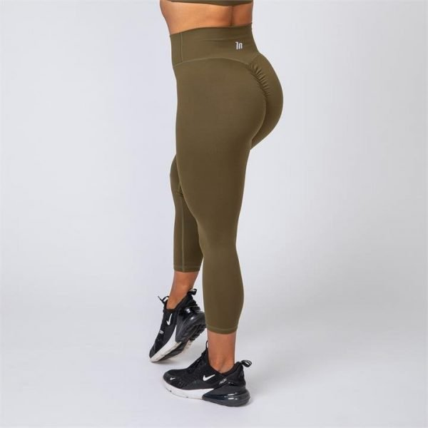 7/8 Scrunch Leggings - Khaki - L