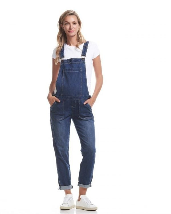 Alice Denim Maternity Overalls