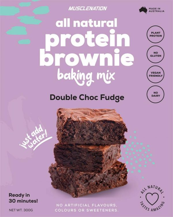 All Natural Protein Brownie Baking Mix - DOUBLE CHOC FUDGE