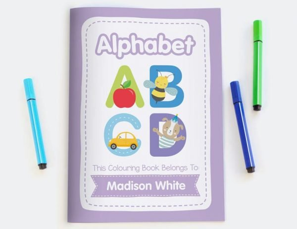 Alphabet Personalised Colouring Book