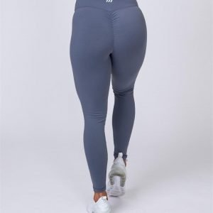 Ankle Length Scrunch Leggings - Titanium - L