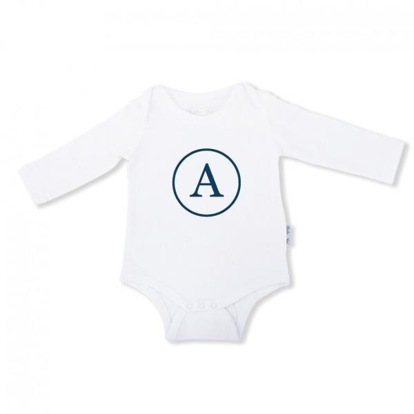 Baby Onesie Monogram - Long Sleeve
