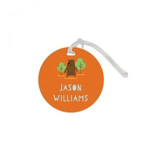 Bag Tag Round - Designer Small