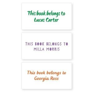 Book Labels - Basic