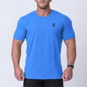 Box Logo Casual Tee - Blue / Black - S
