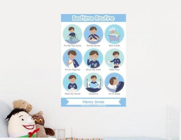 Boy Bedtime Routine Poster