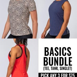 Buy any three women's basics (Tshirts, Tank or Razorback) for $75 - Select 1st Basic