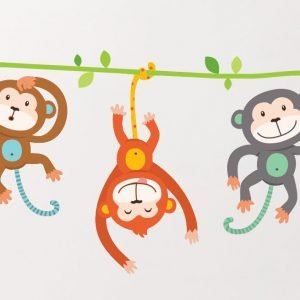 Cheeky Monkeys Wall Stickers