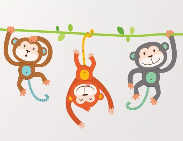 Cheeky Monkeys Wall Stickers