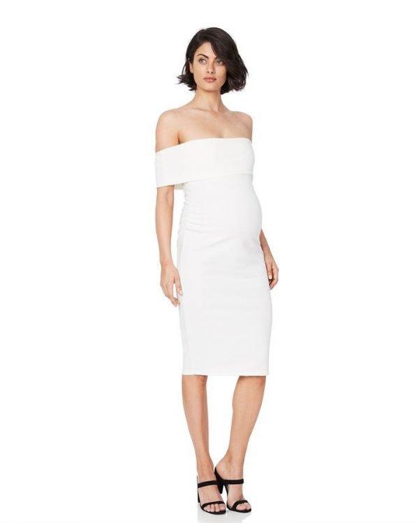 Claire Off-Shoulder Maternity Dress