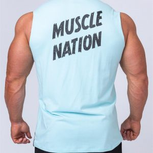 Classic Muscle Tank - Sky Blue - L