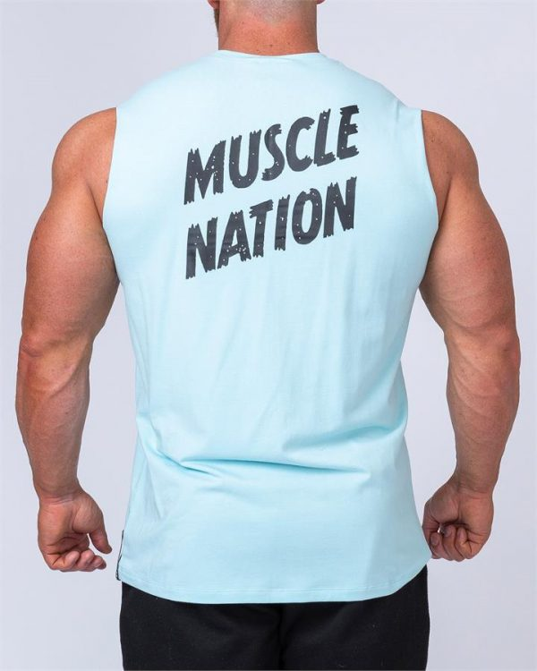 Classic Muscle Tank - Sky Blue - L