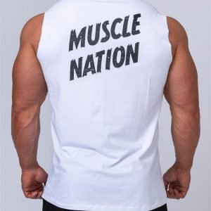 Classic Muscle Tank - White - L