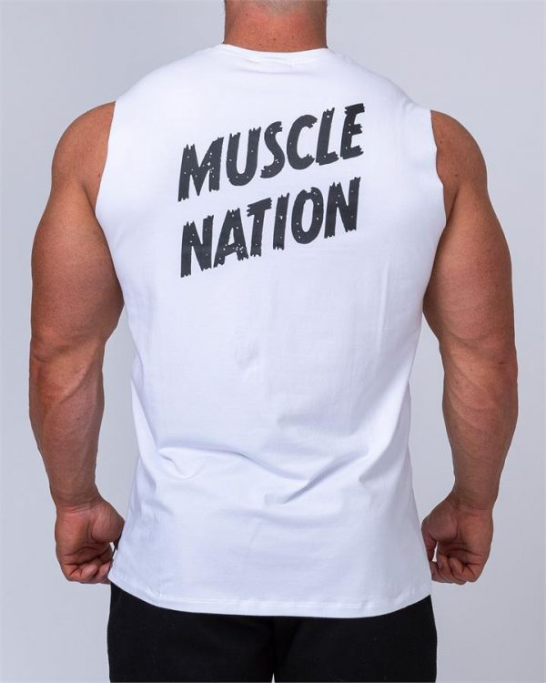 Classic Muscle Tank - White - XXXL