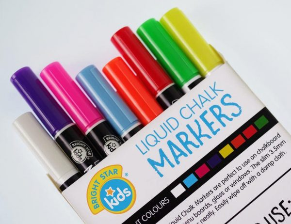 Coloured Chalk Markers Value Pack