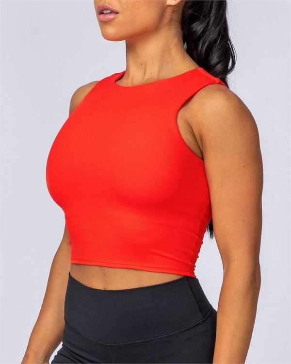 Comfort Cropped Tank - Infrared - L