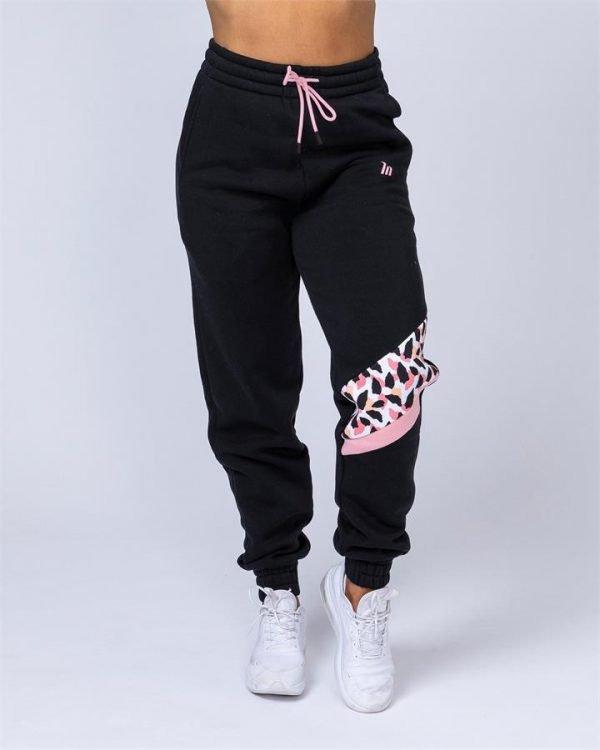 Comfy Tracksuit Pants - Black - S