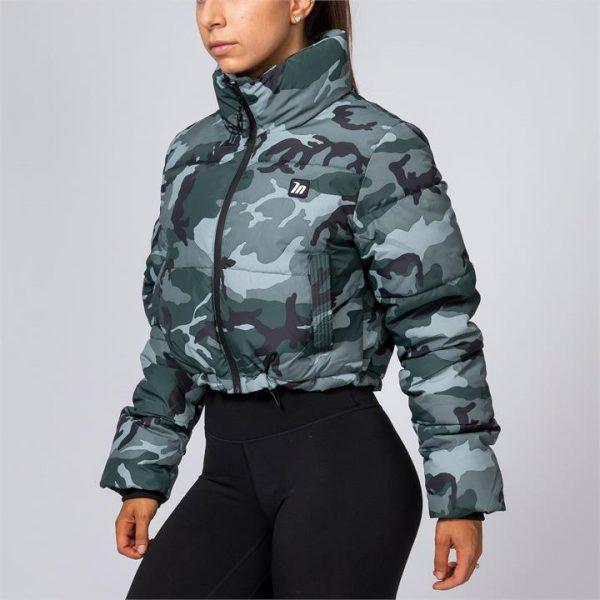 Cropped Puffer Jacket - Camo - M