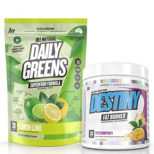 DESTINY Fat Burner + 100% Natural Daily Greens STACK - Bundle