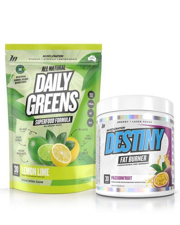 DESTINY Fat Burner + 100% Natural Daily Greens STACK - Select 1: DESTINY Fat Burner