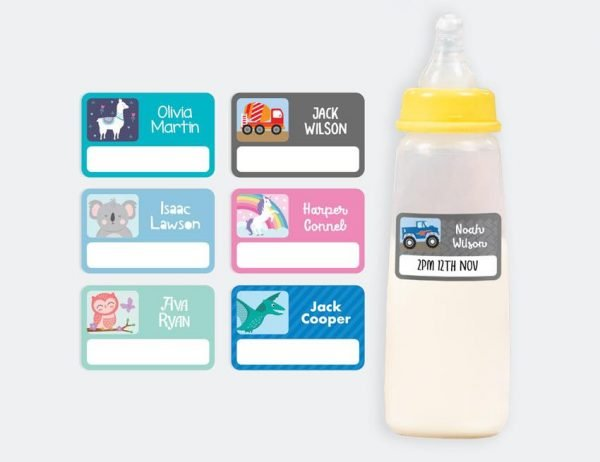 Designer Baby Bottle Labels