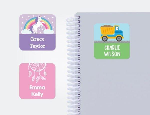 Designer Large Square Labels