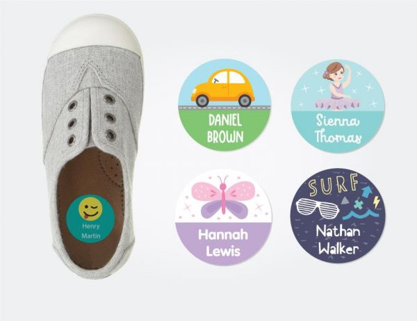 Designer Round Shoe Labels