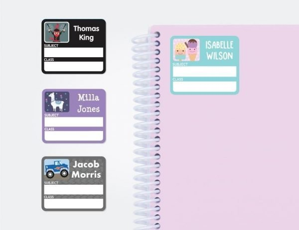 Designer Subject (Book) Labels