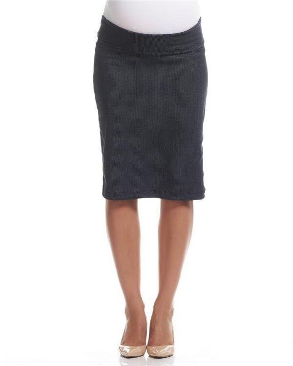Dot Print Pencil Maternity Skirt