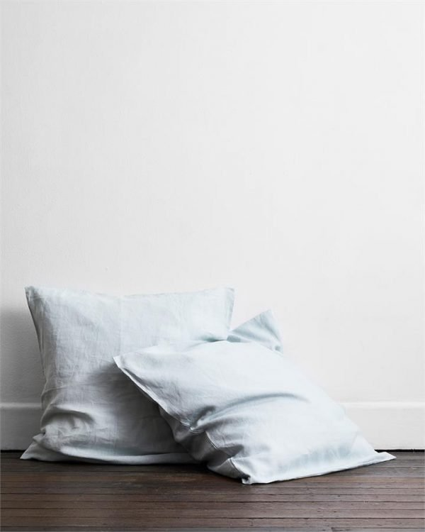 Drift 100% Flax Linen European Pillowcases (Set of Two) - Bed Threads