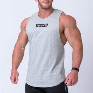 Embroidery Tank - Grey - XXL